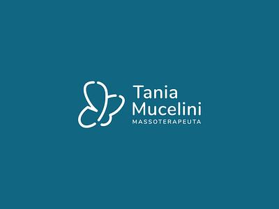 Rebrand Tania Mucelini Massoterapeuta azul blue logotipo do designer borboleta lettering terapeuta massage logotipo logotype logos logo design logodesign logo identidade visual grid design design branding design branding brand identity brand design