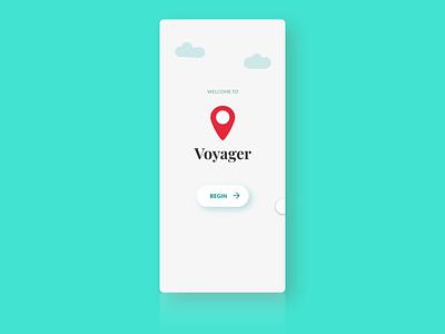 Onboarding Screens for Voyager adobe xd animation booking travel mobile ui app design illustration onboarding