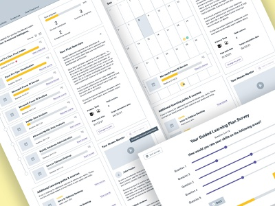 Wireframes for E-Learning Onboarding Survey education software web app web design wireframes ux survey quiz ui elearning