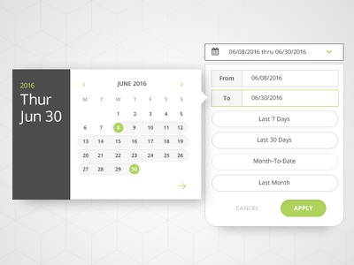 UI Date Picker date range selector picker interface application web pattern date picker ui