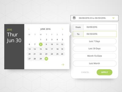 UI Date Picker date range selector picker interface application web pattern date picker ui