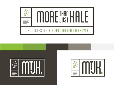 Logo Concept for Vegetarian Blog - More Than Just Kale concept plants vegetarian green hipster identity logo blog
