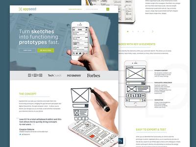 Prototyping Tool - Landing Page