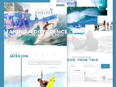 Homepage Design - Travel Evolves