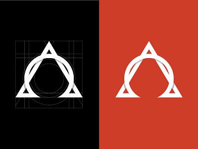 Alpha Omega Logo Mark shading identity grid omega alpha branding logo