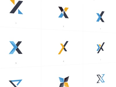 X Icon Vector Concepts software identity concept branding logo icon