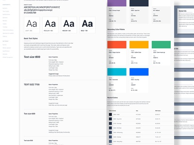 UI Design System guidelines web app typography software interface ui style guide design system