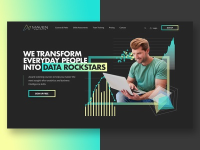 Landing Page for E-Learning Platform analytics branding landing page web  design ui
