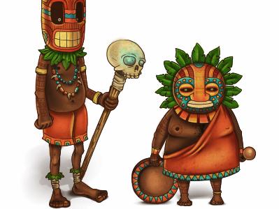Shaman Band sai illustration shaman