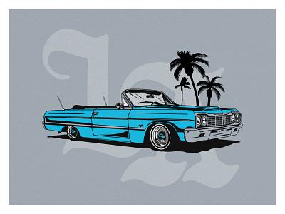 LA LowRider car los angeles design branding graphic illustration