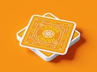 Lemon Crush Coaster for S*Shots cannabis thc typography lockup branding graphic logo illustration
