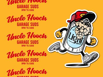 Garage Studs hat beer sticker identity design badge lockup branding graphic logo illustration