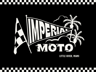 Imperial Moto Cafe motorcycle race cafe moto typography design badge lockup branding graphic logo illustration
