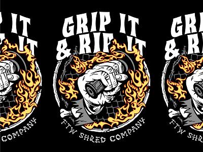 🔥 Grip It & RIP It 🔥 dirtbike design badge lockup branding graphic logo illustration