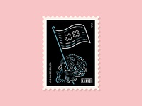 Skull Flag Stamp