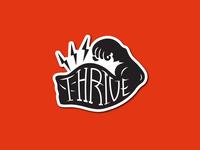 Thrive Fitness Club Sticker