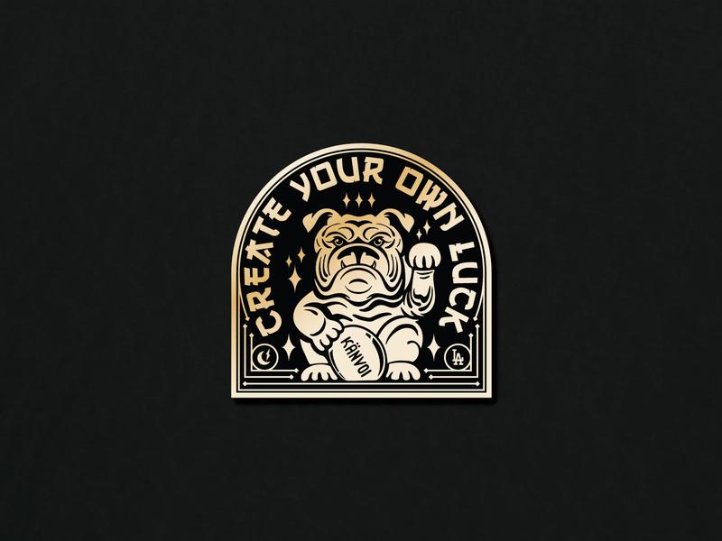 Make Your Own Luck Pin pin design pin badge pin game typography type badge illustration identity branding lockup logo pin