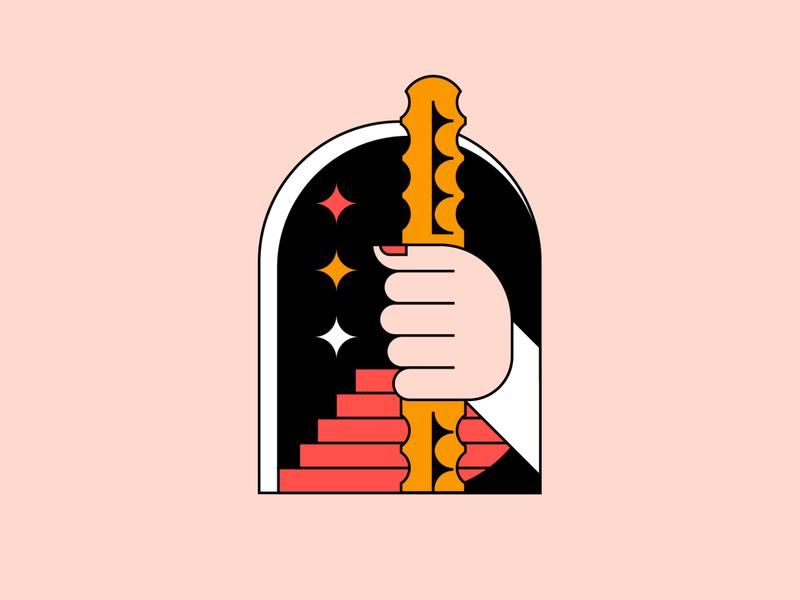 Wizard design branding lockup logo badge graphic illustration icon