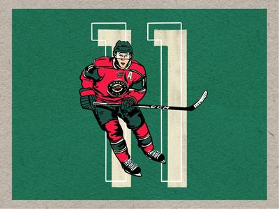 ZachParise #11 wild minnesota nhl hockey graphic illustration