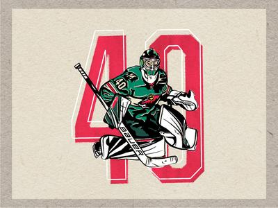 DevanDubnyk #40 minnesota graphic illustration hockey nhl