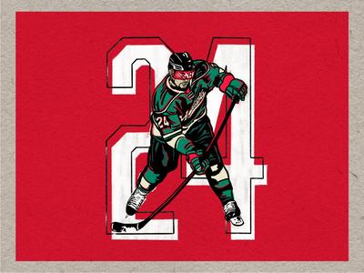 Matt Dumba #24 design graphic illustration wild minnesota mn nhl