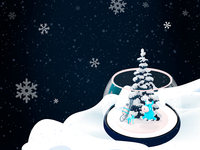 Merry Christmas (Snow Globe )