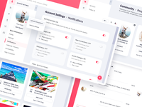 Neighbor.app : Community & Settings Panels