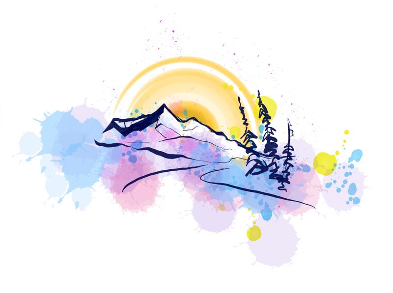 Paint splatter design vector illustration design