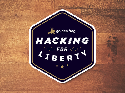 Hacking for Liberty Sticker