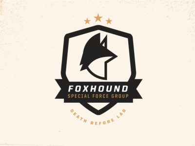 Foxhound Badge badge gaming foxhound outfox