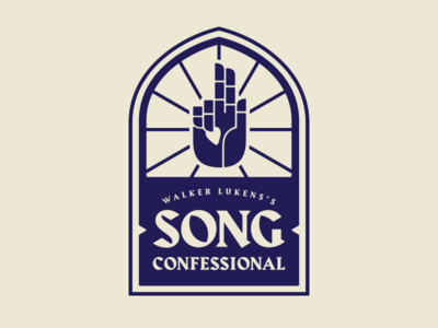 Song Confessional Logo hand stained glass music