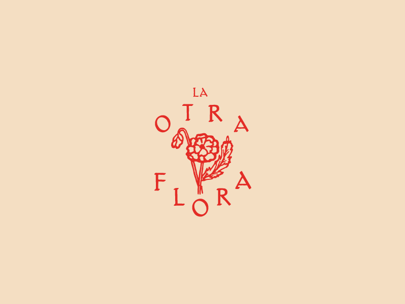 La Otra Flora logo stamp bouquet flower