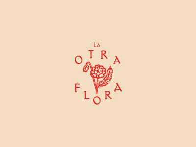 La Otra Flora logo stamp bouquet flower