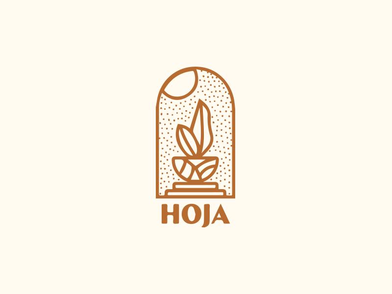 Hoja logo plant indoor hoja