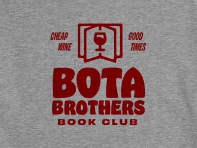 Bota Bros Book Club bold shirt club book wine bota