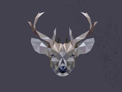 polygon deer polygon animal design vectors illustration vectorart adobe illustrator illustrator cartoon vector