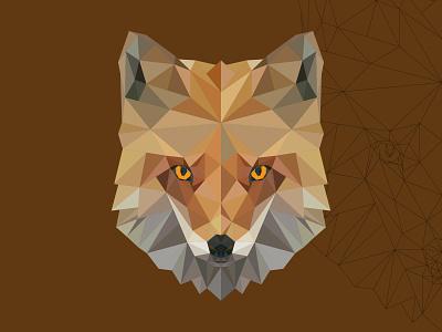 polygon fox animal design vectors illustration vectorart adobe illustrator illustrator cartoon vector polygon