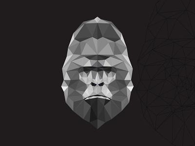 polygon gorilla animal design vectors vectorart illustration adobe illustrator illustrator cartoon vector gorilla