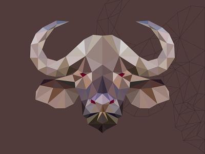 polygon bufalo design vectors animal mascot illustration vectorart adobe illustrator illustrator cartoon vector polygon bufalo