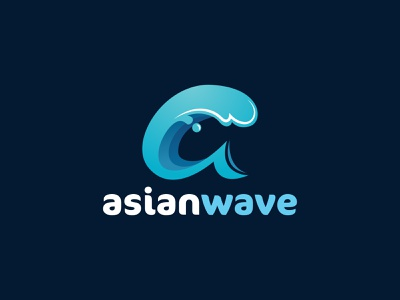 Asian Wave logo vector icon vectorart adobe illustrator illustrator logo
