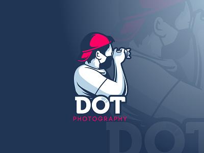 DOT photography mascot logo design illustration cartoon vectorart adobe illustrator illustrator vector