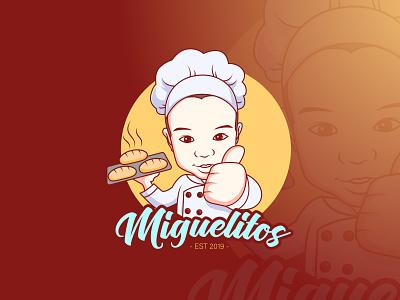 Miguelitos logo illustration vectors adorable logo cartoon vectorart mascot vector illustrator adobe illustrator