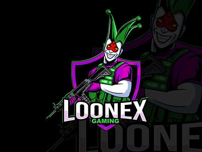Loonex Gaming logo logo vectors design mascot illustration vectorart cartoon adobe illustrator illustrator vector