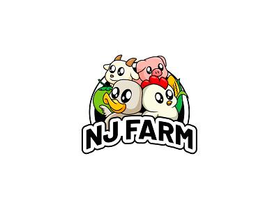 Farm logo design logo mascot illustration vectorart cartoon adobe illustrator illustrator vector