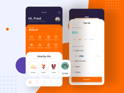 Home screen - part of Fintech UI KIT -