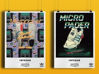 80s Style Retro-futuristic Posters for adidas Micropacer
