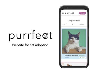 Cat adoption website logo design ui ux cats