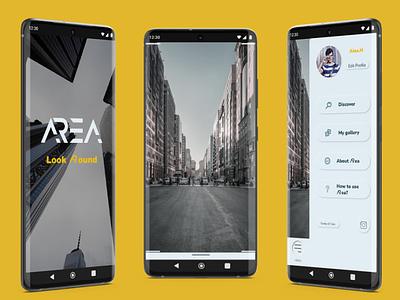 AR app - ARea neumorphism ui augmented reality app design ux ui
