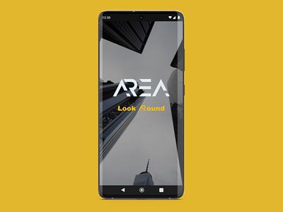 AR app - ARea Splash screen branding logo app splash screen augmented reality ux ui