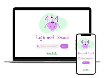 UI challenge - 404 error page childish illustration 404 error page 404 ui challenge ui